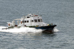Small Motor Boat Speeds By Sea Royalty Free Stock Image
