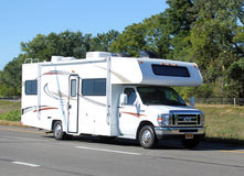 Small motor home recreational vehicle Stock Photo
