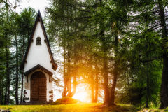 Small mountain chapel Royalty Free Stock Images