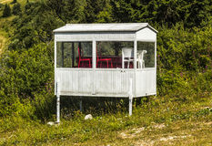 Small Mountain Hut. Detail of a small abandoned mountain hut Royalty Free Stock Image