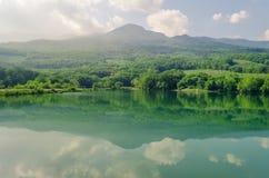 Small mountain lake in Crimea mountains, Alushta.  Royalty Free Stock Image