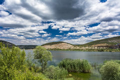 Small mountain lake in Crimea Royalty Free Stock Images