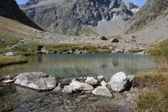Small mountain lake Stock Image