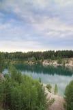 Small mountain lake. A small mountain lake in siberia Royalty Free Stock Image