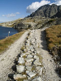 Small mountain path. Small and stones mountain path. Summer time Royalty Free Stock Photos