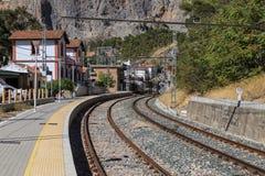 Small mountain railway station Royalty Free Stock Photos