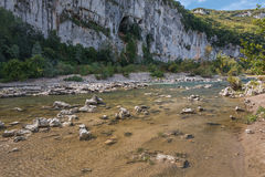 Small mountain river. Royalty Free Stock Images
