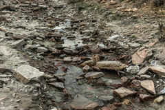 Small mountain river Royalty Free Stock Image