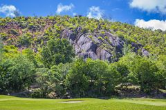 A small mountain, Seychelles Stock Image