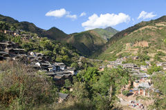 Small Mountain Village Royalty Free Stock Photography