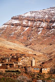 The small mountain village of Aguelmous in the High Atlas, Ouarz Royalty Free Stock Photo