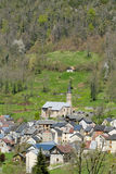 Small mountain village in the French Pyrenees Stock Images