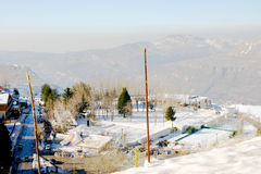 Small Mountain Village. Small mountain village in the middle of winter Stock Photos