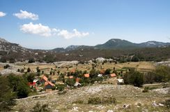 Small mountain village in Montenegro Stock Image