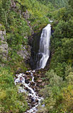 Small mountain waterfall Stock Image