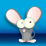 Small mouse. Standing a little mouse who thinks or fears Royalty Free Stock Image