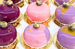 Small mousse cakes Stock Images
