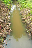 Small mud ditch Royalty Free Stock Photo