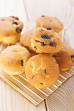 Small muffins with raisins Stock Images