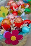 Small multi colored arrangement for Easter royalty free stock photo