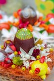 Small multi colored arrangement for Easter royalty free stock photos