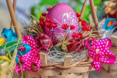 Small arrangement for Easter stock photos