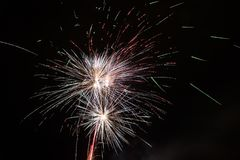 Small multiple fireworks Stock Photos