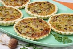 Small mushrooms boletus pies. On plate Stock Image