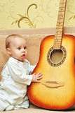 Small musician Royalty Free Stock Photos