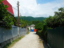 Small narrow alleyways in village Stock Images
