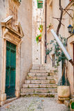 Small narrow street in Dubrovnik Royalty Free Stock Photos
