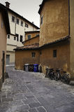 Small narrow street in Lucca,Tuscany,Italy Royalty Free Stock Image