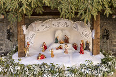 Small nativity scene at Crodo, Ossola Stock Photos