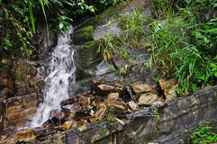 Small Natural Waterfall Royalty Free Stock Photos