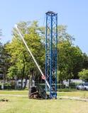 Small naval crane Stock Photo