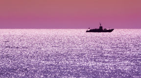 Small navy ship Royalty Free Stock Photography