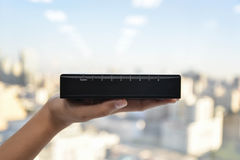 Small network switch Royalty Free Stock Image