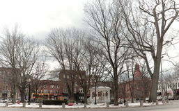The small New England town of Keene, New Hampshire and its village green Stock Image