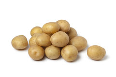 Small new potatoes stock photography