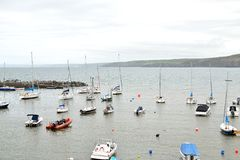small New Quay marina in Wales Royalty Free Stock Photography