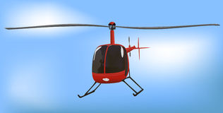 Small News or Traffic Helicopter Royalty Free Stock Image