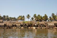 Small nice fisherman village at sunset Royalty Free Stock Image