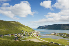 Small norwegian fisher's village Royalty Free Stock Image