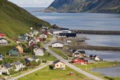 Small norwegian fisher's village Stock Photo