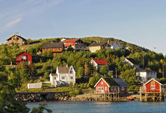 Small norwegian village royalty free stock photography