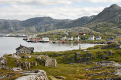 Small norwegian village Stock Photos