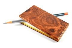 Small notebook and pencil Royalty Free Stock Image