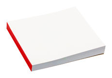 Small notepad isolated on white Royalty Free Stock Photos