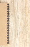 Small notepad on wood Royalty Free Stock Photography