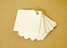 Small notepaper Stock Image